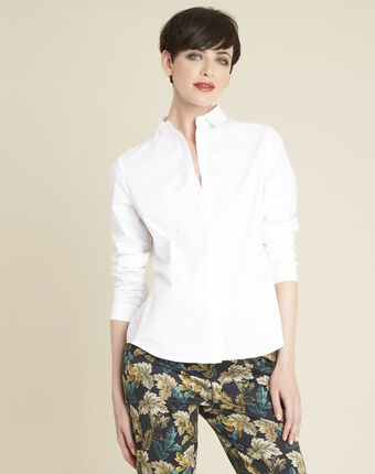 Weiße popeline-bluse ravel weiss.