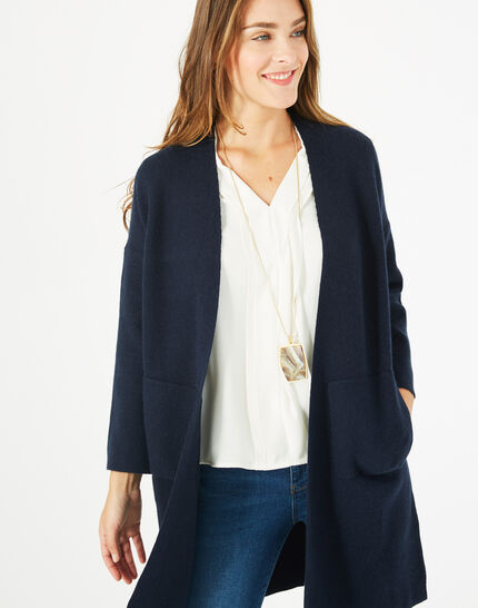 Panda long navy blue jacket PhotoZ | 1-2-3