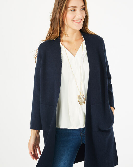 Panda long navy blue jacket (1) - 1-2-3