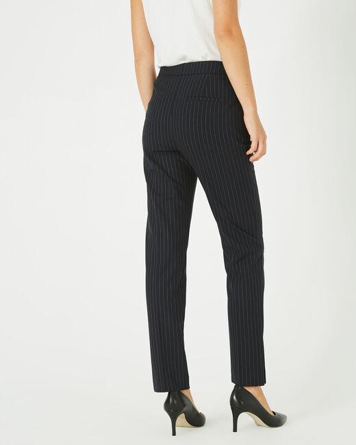 Pantalon noir de tailleur à rayures Vicky (2) - 1-2-3