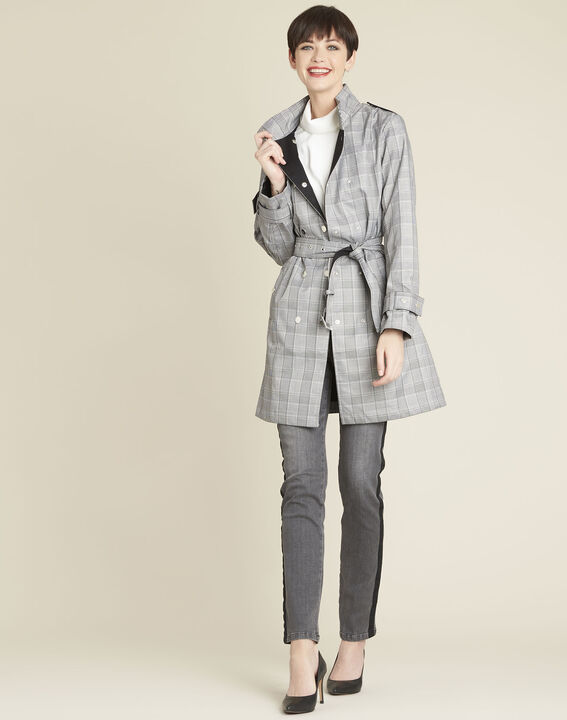 Emilia long checked trench coat (2) - Maison 123