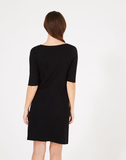 Princesse black dress with diamanté detailing (5) - 1-2-3