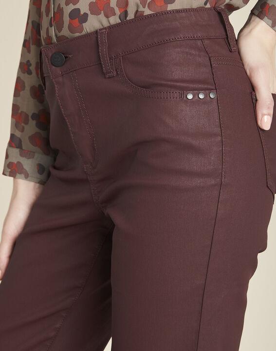 Bordeauxrode 7/8-jeans met coating Vendôme (3) - 37653