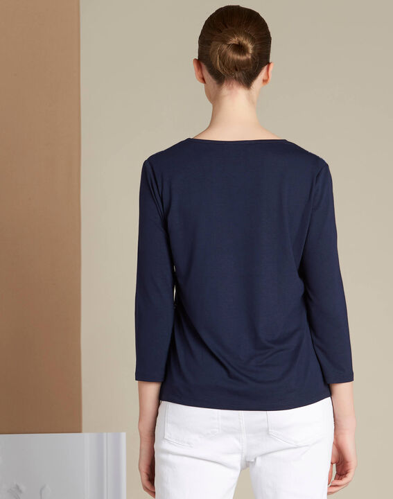 T-shirt bleu roi imprimé Eballon (4) - 1-2-3