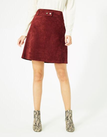 Diapo burgundy leather skirt (2) - 1-2-3