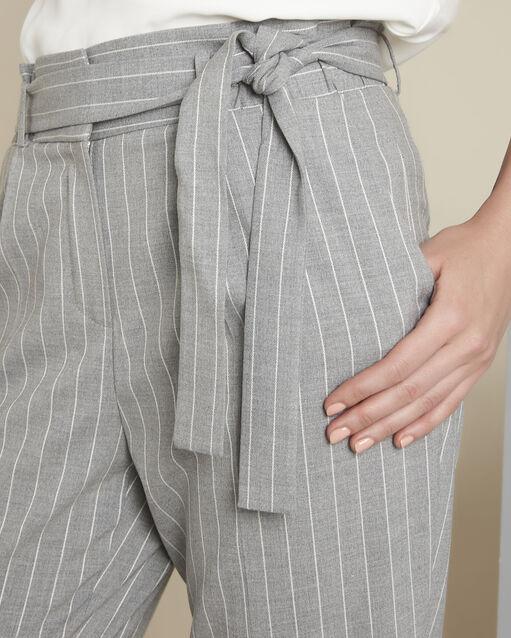 Pantalon gris rayé ceinture Hemy (2) - 1-2-3