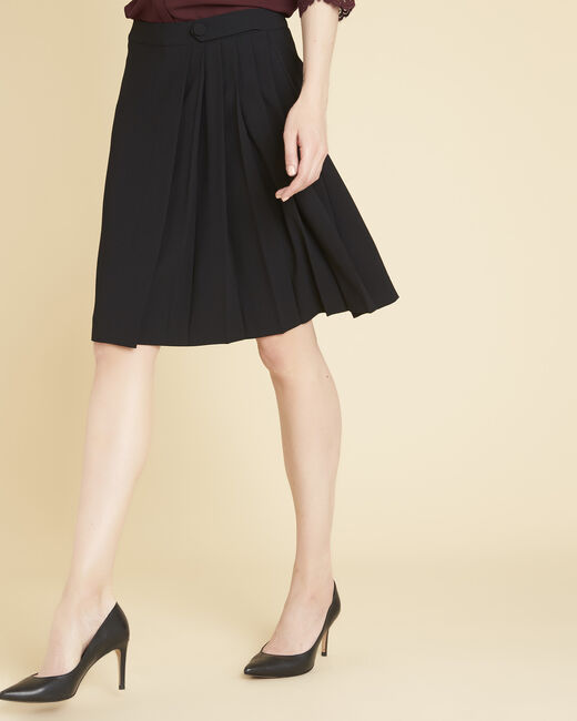 Alpha black skirt with pleats (2) - 1-2-3