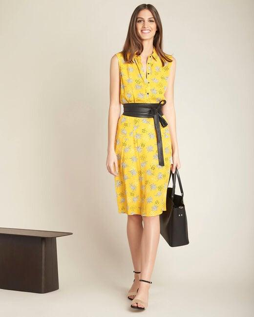 Robe chemise jaune imprimée Patou (1) - 1-2-3