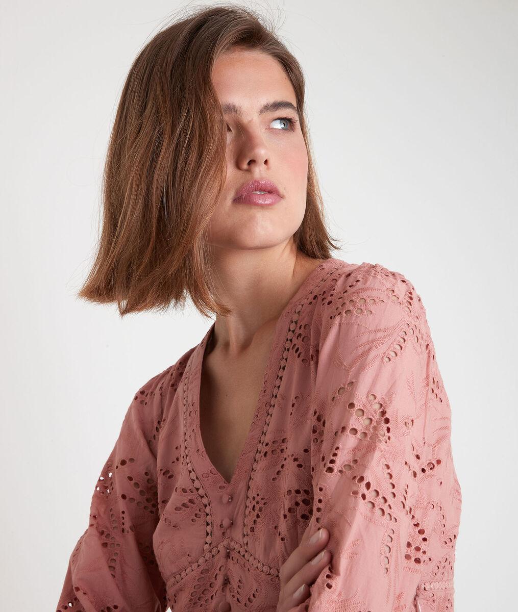 Robe longue en coton biologique brodée Catalia PhotoZ   1-2-3