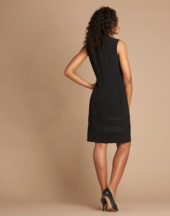Abricot sleeveless straight-cut black dress (4) - 1-2-3