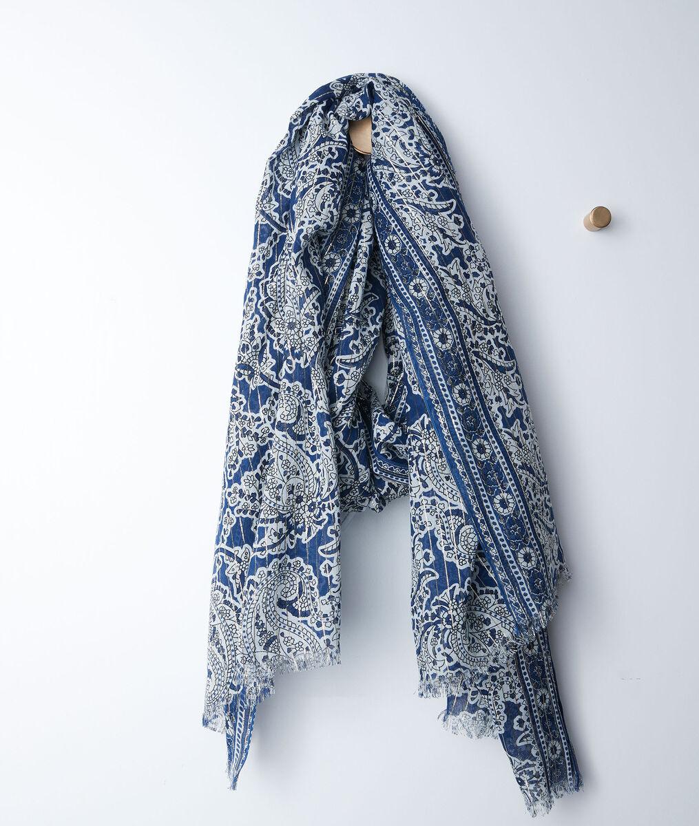 Foulard imprimé cachemire bleu bianca - 123 - Modalova