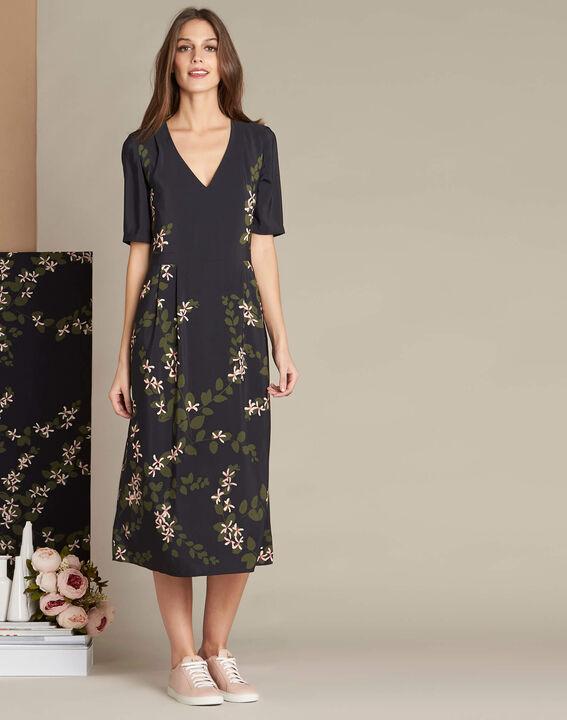 Langes Kleid mit Blumenprint Piment (3) - 1-2-3