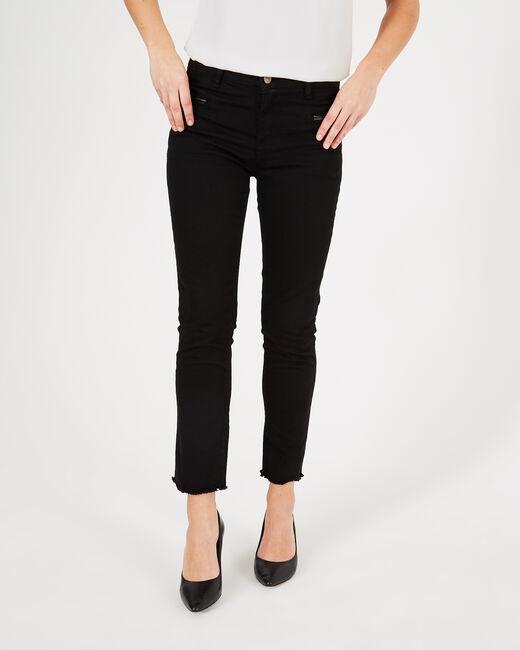 Schwarze Jeans mit Reißverschlüssen Germain (2) - 1-2-3