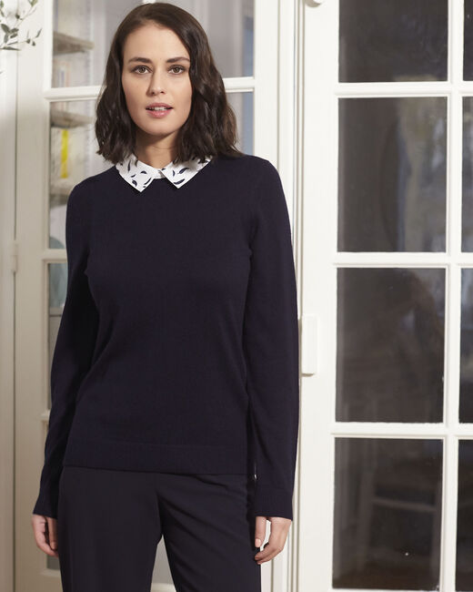 Boppy navy pullover with decorative shirt collar (2) - 1-2-3