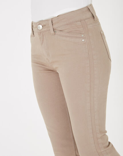 Pia taupe 7/8 length satin trousers (4) - 1-2-3