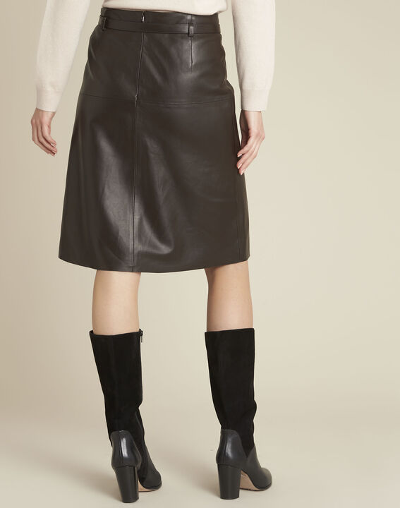 Long brown leather skirt (4) - 1-2-3