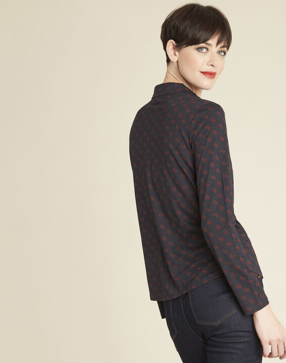 Gaudi navy shirt with print (4) - Maison 123
