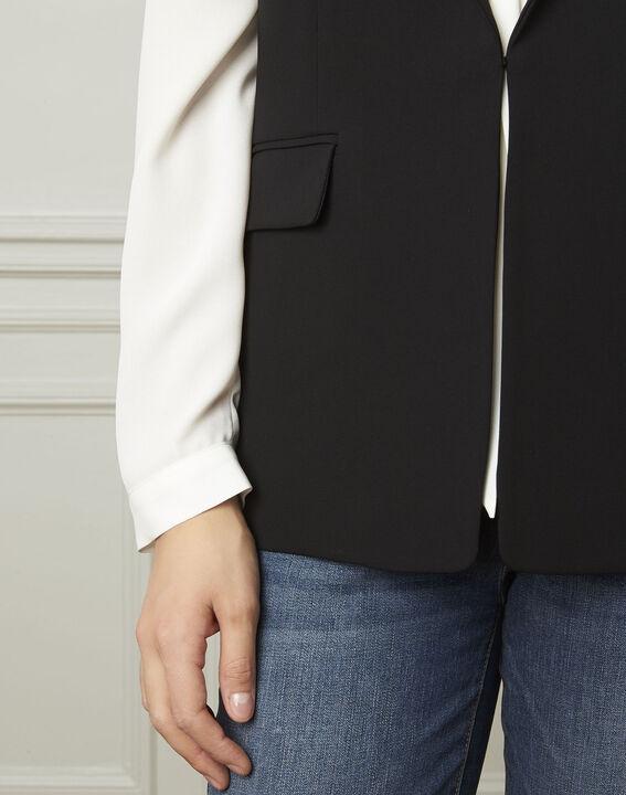 Schwarze, ärmellose Jacke aus Mikrofaser Cool (4) - Maison 123