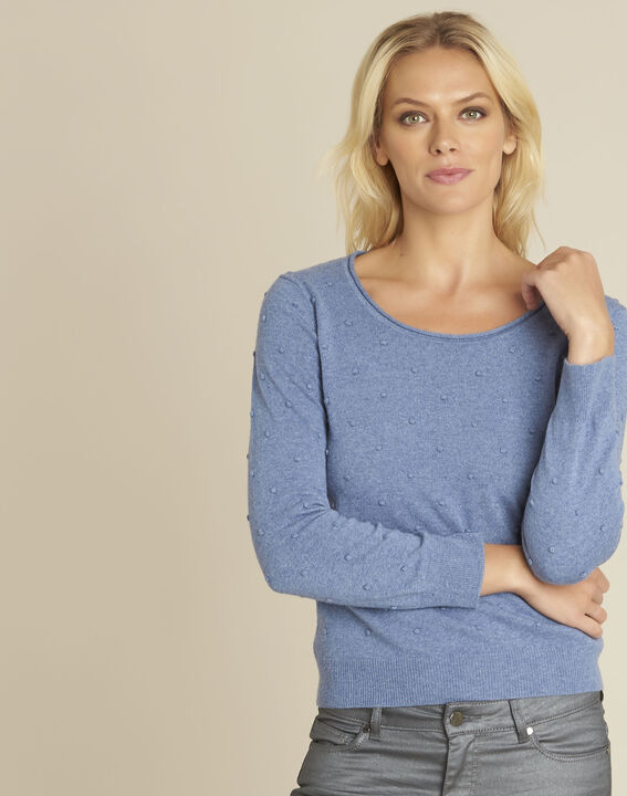 Beebop blue crew neck wool mix pullover PhotoZ | 1-2-3