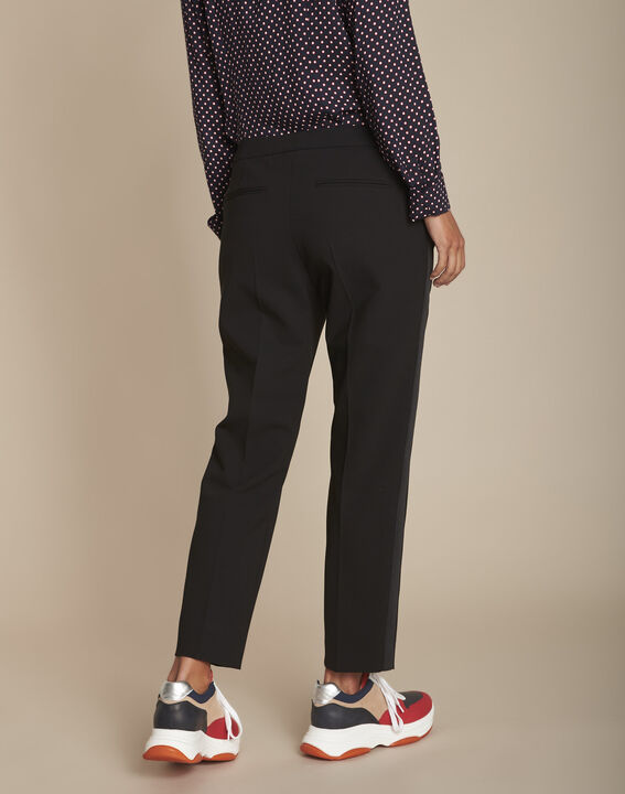 Suzanne tailored black trousers with lateral band (4) - 1-2-3