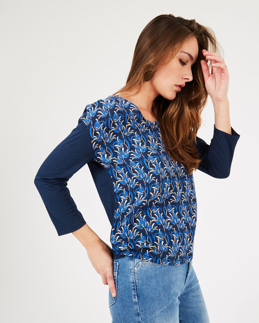 Backstage navy blue printed T-shirt with long sleeves (2) - 1-2-3