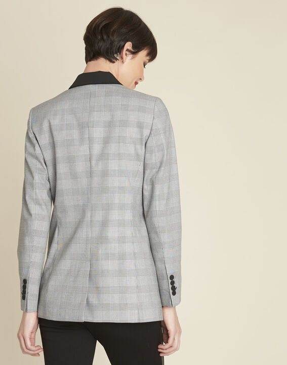 Siara grey Prince of Wales print jacket (4) - 1-2-3