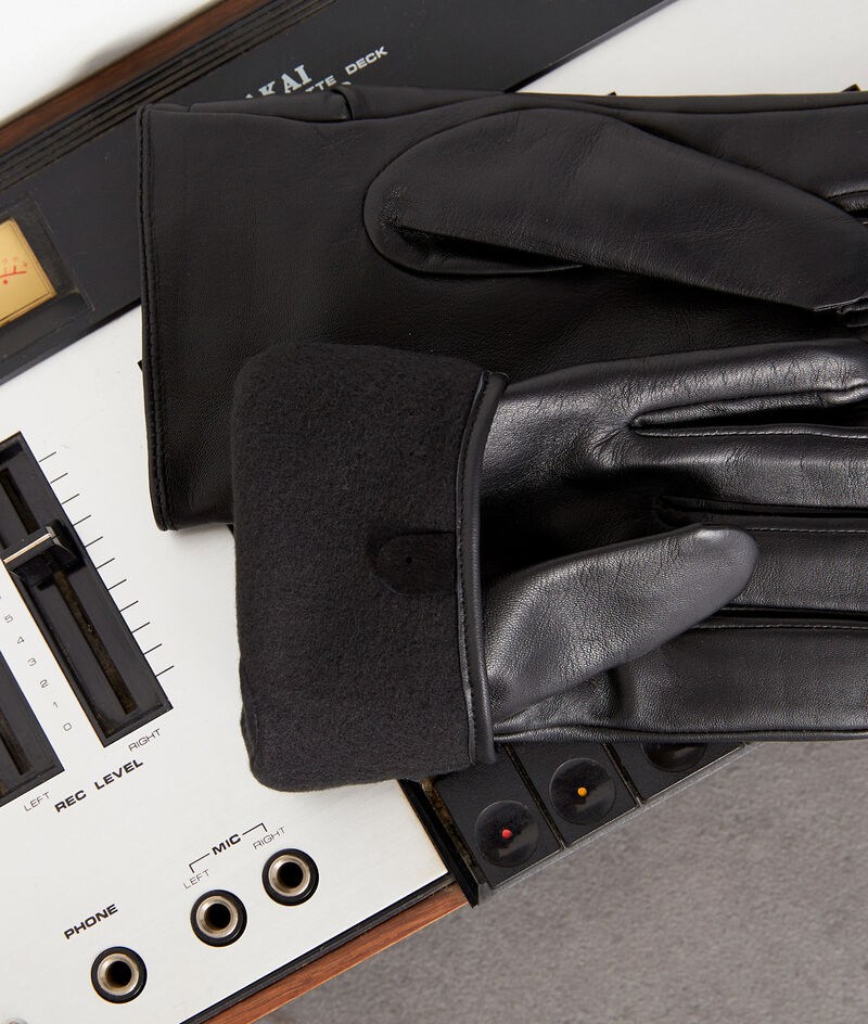 Gants en cuir noirs Willa PhotoZ | 1-2-3