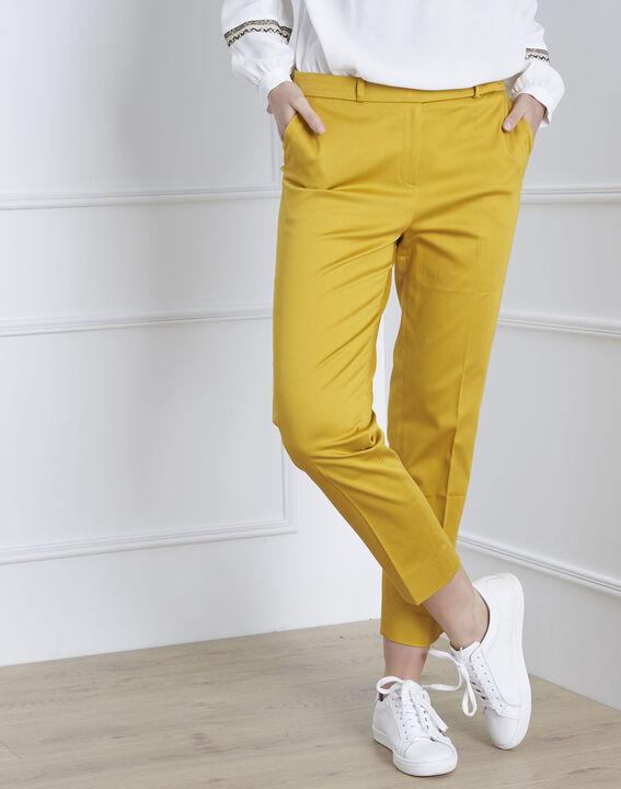 Pantalon jaune cigarette Rubis (2) - 1-2-3