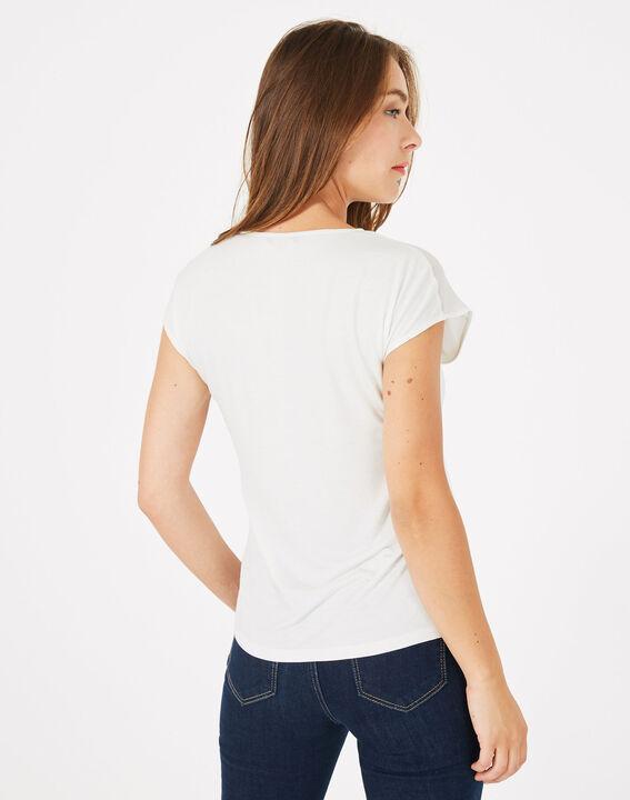 Tee-shirt écru bi-matière Beryl (4) - 1-2-3