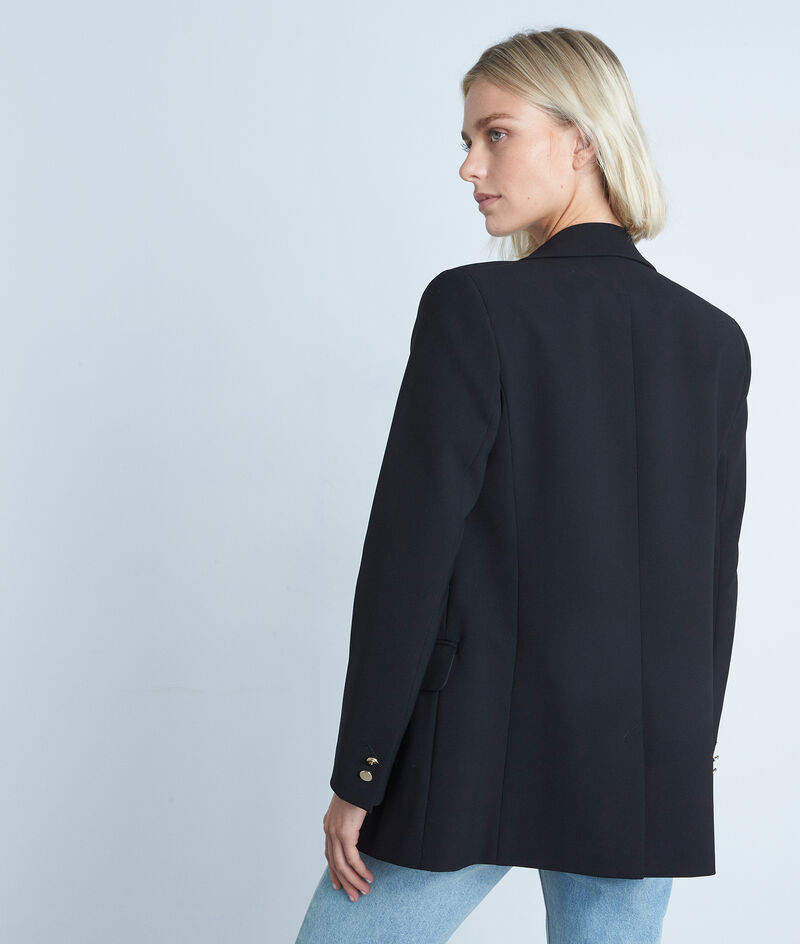 Veste de blazer en microfibre noir Florine PhotoZ | 1-2-3