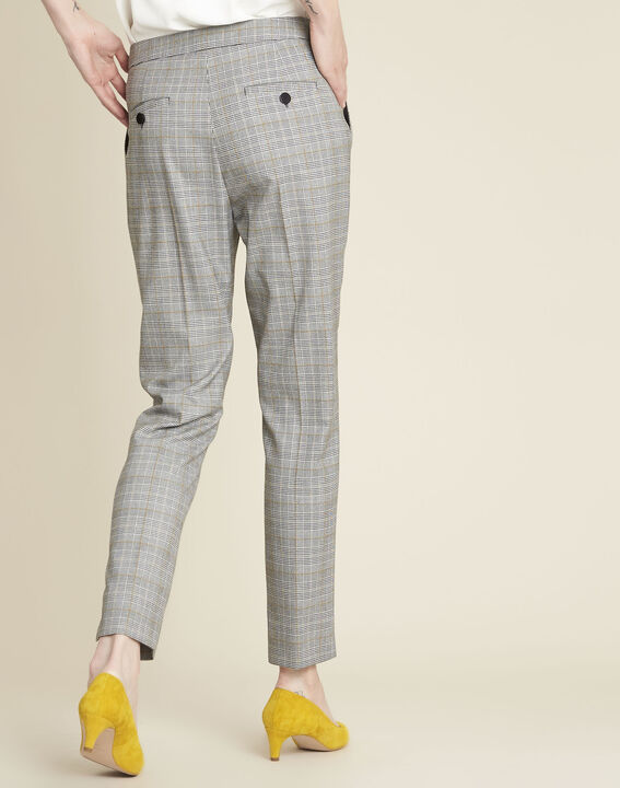 Pantalon cigarette motif prince de Galles Harry (4) - 1-2-3