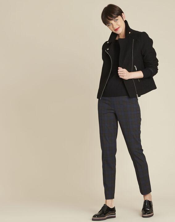 Beryl black wool mix pullover with iridescent neckline (2) - 1-2-3