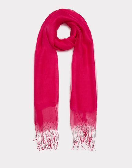 Maeva raspberry silk stole PhotoZ   1-2-3