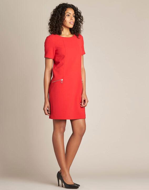 Robe droite rouge Amanda (3) - 1-2-3