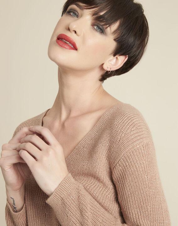 Rosa Pullover mit V-Ausschnitt Bonita (2) - 1-2-3