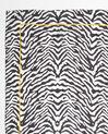 Schwarzes Seidenhalstuch mit Zebraprint Anouk (1) - 1-2-3