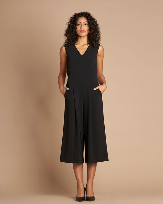 Pomme black sleeveless cropped jumpsuit (1) - 1-2-3
