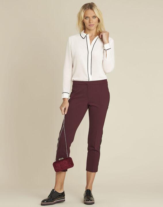 Celine nude silk blouse with contrasting bias (2) - Maison 123