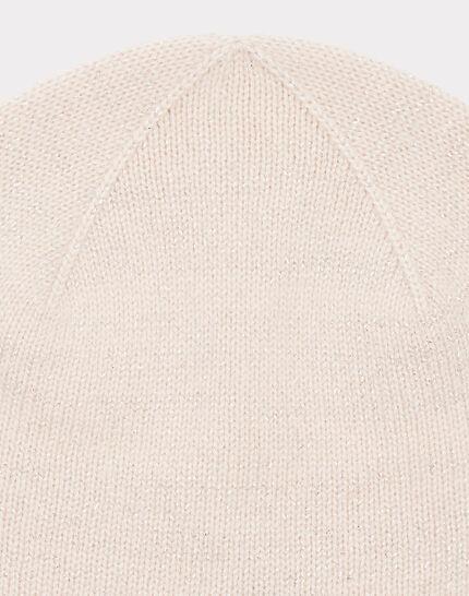 Puderfarbene glänzende Kaschmir-Mütze Tilleul bis (2) - 1-2-3