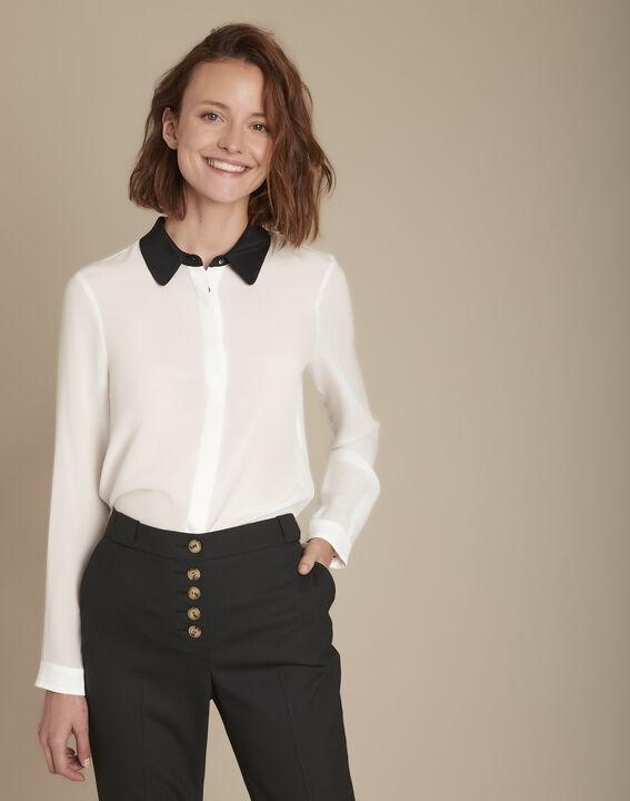 Zijden hemd met contrasterende kraag Maelle PhotoZ | 1-2-3