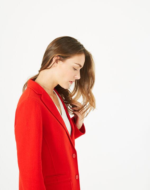 Manteau mi-long rouge en laine mélangée Jack (4) - 1-2-3