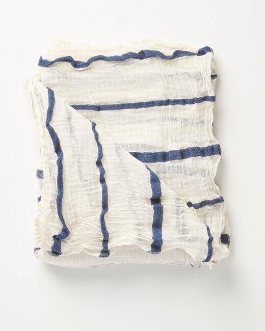 Foulard bleu à rayures Arry (2) - 1-2-3
