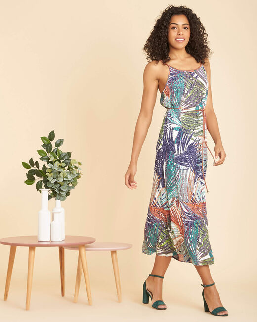Papaye long printed multi-coloured dress (2) - 1-2-3
