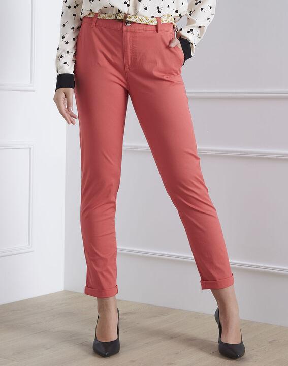 Pantalon corail chino ceinture fantaisie Francis (2) - Maison 123