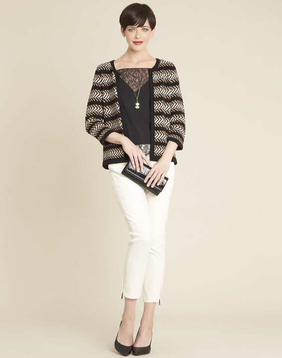 Bellini black striped cardigan (3) - 1-2-3
