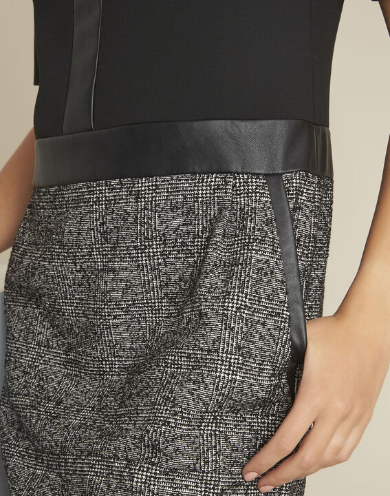 Robe noire bimatière Dizzy (2) - 37653