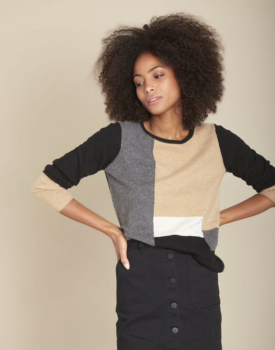 Pull cachemire colorblock Freeze PhotoZ | 1-2-3