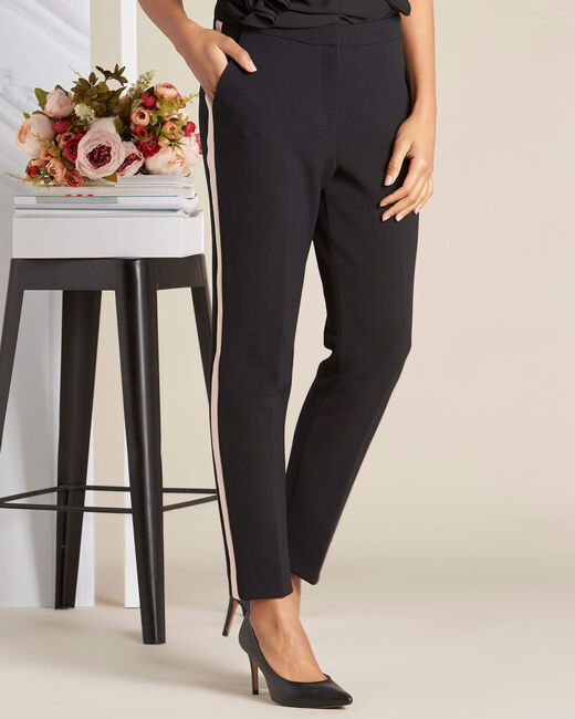 Vadim two-tone black fitted trousers (1) - 1-2-3