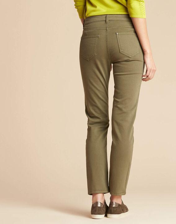 Khakifarbene Slim-Fit-Jeans normale Leibhöhe Vendome (4) - 1-2-3
