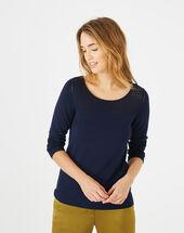 Pergola navy blue openwork sweater ink.